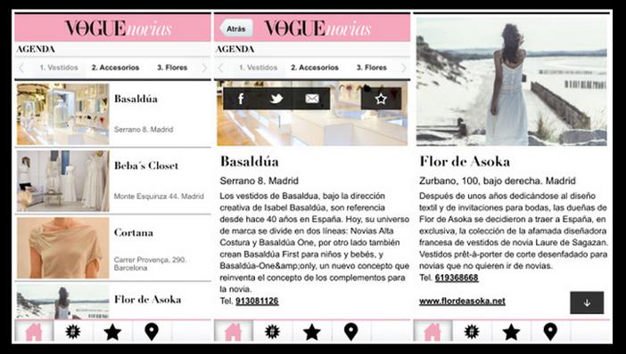 Aplicación Vogue Novias
