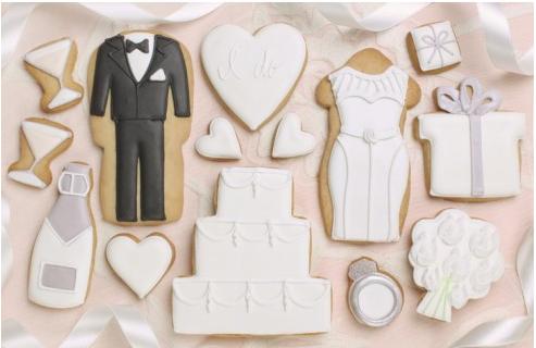 Galletas para invitados en una boda
