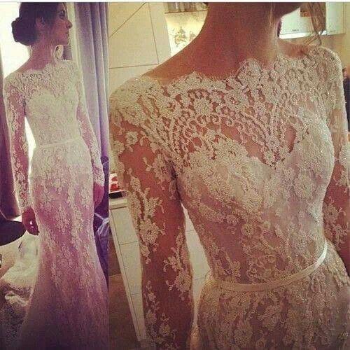 vestido de novia con encaje
