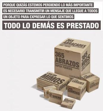 Cajas solidarias de cartón