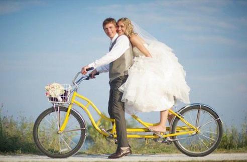 bicicleta para novios