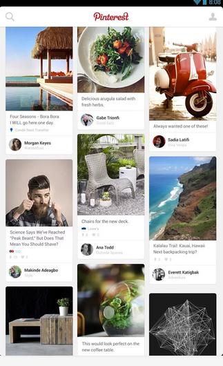 Aplicación Pinterest